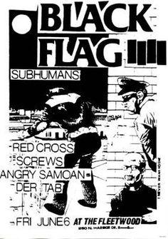 Black Flag ''Gig'' poster 24x36 #punk #music #poster www.drstrange.com