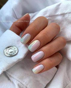 Pastel Nails, Cute Acrylic Nails, Nail Designs Spring, Nail Art Designs, Nails Design, Gel Nail Polish Designs, Pretty Nail Designs, Stylish Nails, Trendy Nails