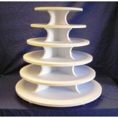 6 Tier Round Plastic Laminated Foam Cupcake Stand - Holds 200 Cupcakes