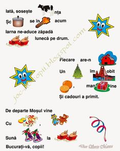 Romanian Language, Educational Activities, Letters, School, Winter, Studying, Winter Time, Teaching Materials, Schools