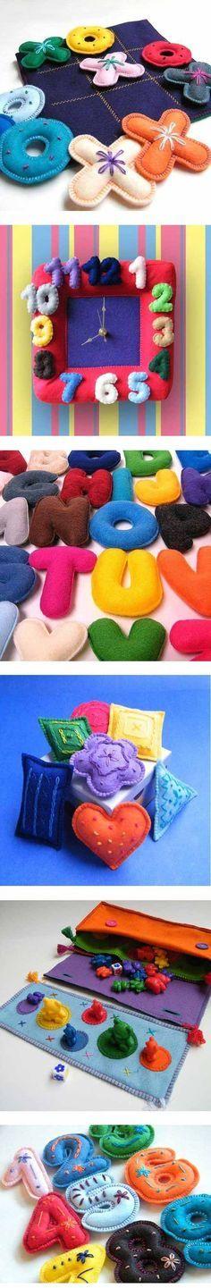 Jogos e Brinquedos educativos de Feltro e Tecido