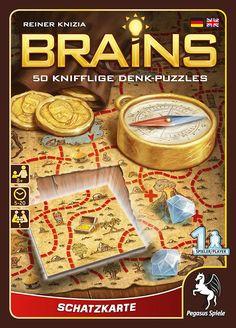 Pegasus Spiele 18131G - Brains, Schatzkarte: Amazon.de: Spielzeug Pegasus, Strategy Games, Christmas Presents, Board Games, Brain, Puzzles, Books, Shopping, Treasure Maps