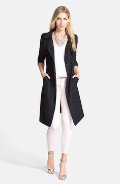 Chelsea28 Lace Topper, Crinkled Split Back Top & Treasure&Bond Skinny Jeans  available at #Nordstrom