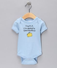 Take a look at this Blue 'I'm Going To Grandma's' Bodysuit by Swinging on a Star on #zulily today!