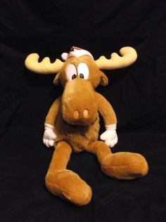 Rocky and Bullwinkle - Bullwinkle J. Moose Christmas Plush