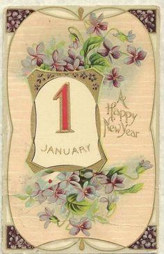 Victorian New Year postcard