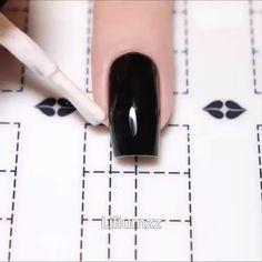 nail art videos * nail art designs ` nail art ` nail art designs for spring ` nail art videos ` nail art designs easy ` nail art designs summer ` nail art diy ` nail art tutorial Nail Art Hacks, Nail Art Diy, Rose Nail Art, Cute Nails, Pretty Nails, Pretty Eyes, Nails Factory, Nail Art Stencils, Nagellack Design