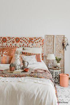 Bohemian pastel nude bedroom moroccan style ©BintiHome-7 | slaapkamer inspiratie | bedroom ideas