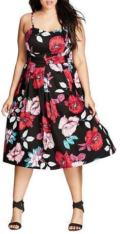 1dc05f84090 City Chic Plus City Chic Poppy Garden Dress Women - Plus - Bloomingdale s