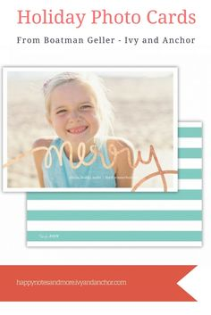 Personalized Holiday Photo Cards from Boatman Geller and Ivy and Anchor