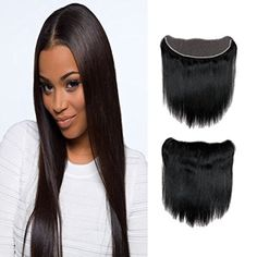 Fabeauty 7A (10 12 14 14+8) Human Hair Extensions 4 Bundles with Lace Frontal Closure Brazilian Straight Wave Hair 4 Pcs with Closure-Full Frontal Lace Closure (134 ), Natural Black by Fabeauty -- Awesome products selected by Anna Churchill
