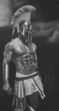 Assassin's Creed Wallpaper, Spartan Tattoo, Greek Soldier, Wolf Warriors, Statue Tattoo, Mythology Tattoos, Greek Warrior, Spartan Warrior, Tiger Art