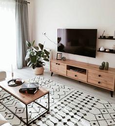 Nordic Living Room, Small Apartment Living, Home Living Room, Living Room Decor, Small Living Rooms, Interior Design Living Room, Living Room Designs, Salon Ideas, Scandinavian Design