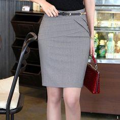 2016 Plus Size Women Office Skirt Saia Midi Slim Hip Work Career Knee-Length High Waist Pencil Skirts Faldas Mujer Jupe Femme Cheap Skirts, Short Skirts, Jeans Rock, Denim Jeans, High Waisted Pencil Skirt, Midi Skirt, Knee Length Shorts, Plus Size Skirts, Bodycon
