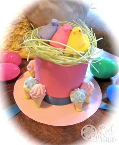 Make an Easter parade hat: Mini top hat for girls