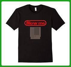 Mens Blow Me Retro Video Game Old school Gamer T-shirt XL Black - Retro shirts (*Amazon Partner-Link)