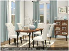 a985fd1e7c389 By Severinka Stella diningroom Created for: The Sims 4 Set of furniture for  decorating a dining room in a classic style. Wood HD textures The set  includes ...