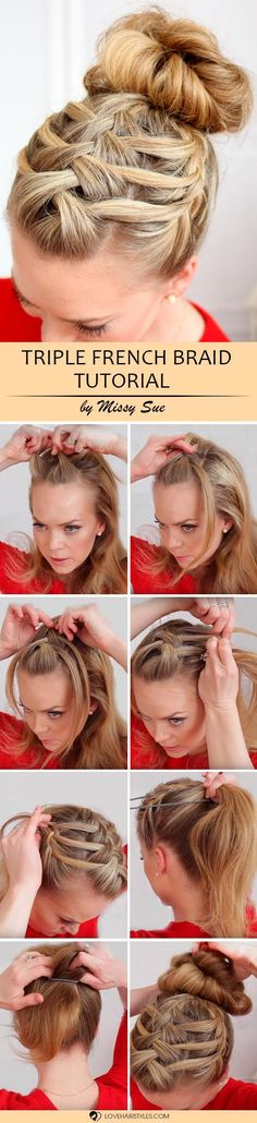 If you still don't know how to do a french braid, you should read this article till the end. Here you can find just three amazing tutorials that will show you how to get a perfect braided hairstyle. Having looked at each of these ideas you will realize: beautiful hairstyles are worth your time. #braids #frenchbraid #hairtutorial #howtofrenchbraid