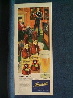 1948 Uncommon Hamm's Beer Ad Sophisticated Looking Men in Den | eBay Asking $7.95 with $3.50 S&H