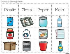 Recycling Activities by Katie Roltgen Science Worksheets, Vocabulary Activities, Kindergarten Worksheets, Educational Activities, Fun Activities, Recycling, Earth Day Crafts, English Activities, Happy Earth