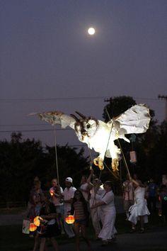 Giant Owl Puppet- lovettarts.com