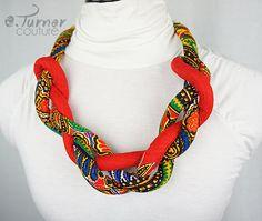 Rood dik touw ketting etnische touw halsketting door ETurnerCouture