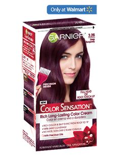 Color Sensation 3.26 - Deep Burgundy .I used this it works really good it's the best brand to use for burgundy colors