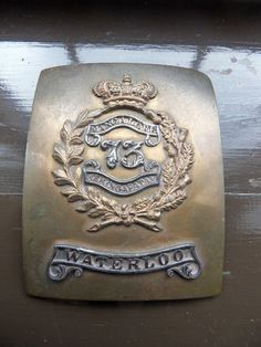 Victorian 73rd Foot Royal Highlanders Black Watch Cross Belt Plate