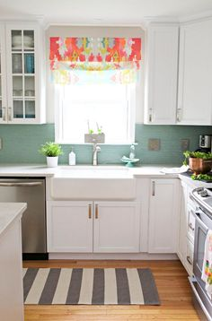 These easy ideas for decorating your rental kitchen won't require whipping out a paintbrush when it's time to move out. Decals that detach with a tug, rugs that roll up and follow you to your next home, and hardware that detaches with a few twists of a screwdriver let you design a custom kitchen—without upsetting your landlord.