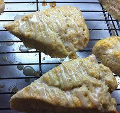 Lavender Scones with Vanilla Bean Icing