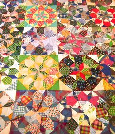 Vintage Star quilt top - love the variety of backgrounds and colors throughout the quilt