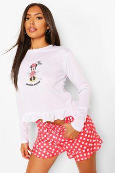 Trendy Plus Size, Plus Size Women, Minnie Mouse Bedding, Pj Shorts, Sleepwear Women, Retro Outfits, Fashion Face, Short Set, Pajama Set