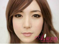 Simple and elegant Asian eye makeup.