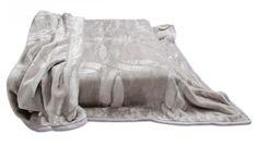 Šedá deka na postel s potiskem Lorem Ipsum, Outdoor Blanket
