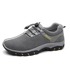 Introducing YINHAN Mens New Trail Shoes Outdoor Lace Up Climbing Sneaker Trekking Shoes Grey 3 41. Great Product and follow us to get more updates!