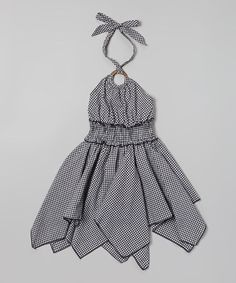 Love this Black Gingham Handkerchief Halter Dress - Toddler & Girls by Lele for Kids on #zulily! #zulilyfinds