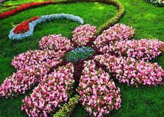 How lovely is this? Flowers making a flower! Great idea for the garden. #landscape #design
