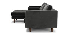 $2100 Sven Shadow Gray Left Sectional Sofa - Sectionals - Article   Modern, Mid-Century and Scandinavian Furniture