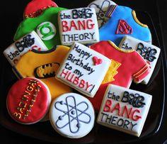 Big Bang Theory Cookies- Sheldon Shirts, Bazinga, Atoms, Super Hero Shirts