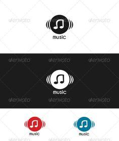 Music  - Logo Design Template Vector #logotype Download it here: http://graphicriver.net/item/music-logo/3556628?s_rank=896?ref=nexion