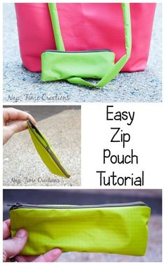 Easy Zipper Pouch Tutorial- great colors!