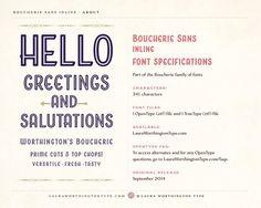 Boucherie Sans Inline by Laura Worthington on @creativemarket