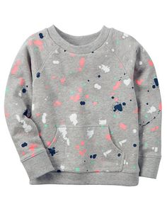 Kid Girl Paint Splatter French Terry Pullover from Carters.com. Shop clothing & accessories from a trusted name in kids, toddlers, and baby clothes.