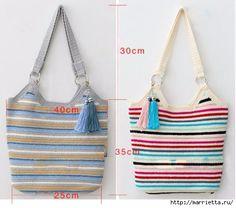 Летняя сумка-мешок крючком. Схемы вязания (8) (453x400, 118Kb)