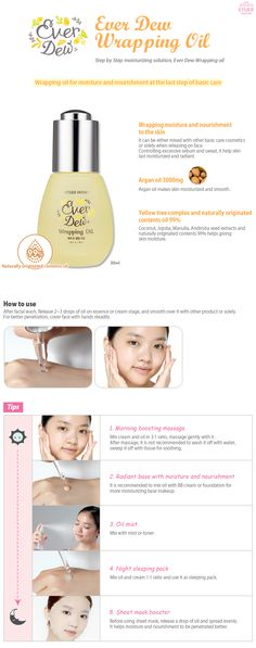 Etude House Korea Jakarta: Etude House Ever Dew Wrapping Oil 30ml [Dry Skin T...