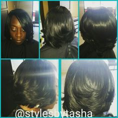 Full head extension bob cut
