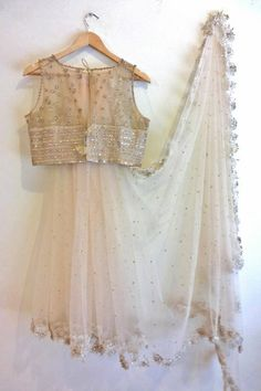 off white saree