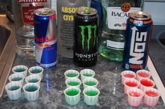 Energy Drink Jello Shots from Dog & Pony Show