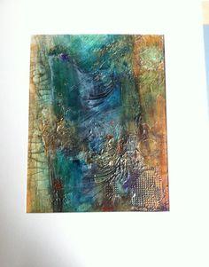 Original Acrylic Abstract  Blue Abstract Art by VisionsInAbstract