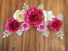 43 ideas diy paper flowers for wall coffee filters Giant Paper Flowers, Shabby Flowers, Paper Flowers Diy, Diy Paper, Paper Crafts, Paper Flower Wall, Paper Flower Backdrop, Flower Wall Decor, Luau